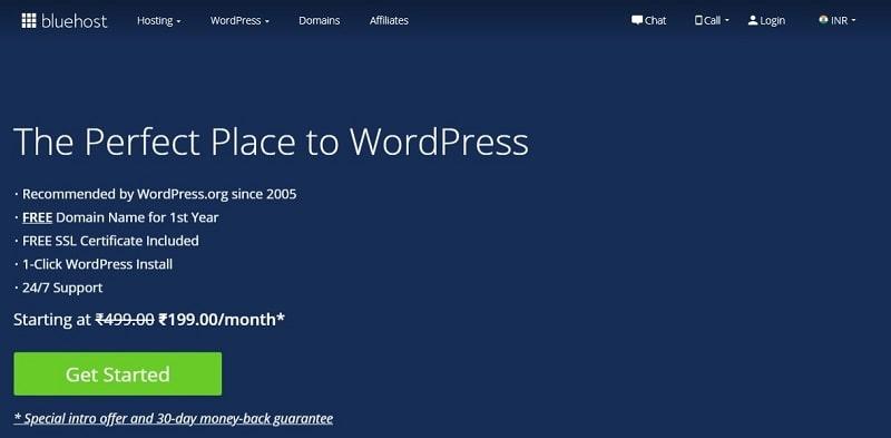 bluehost web hosting for wordpress
