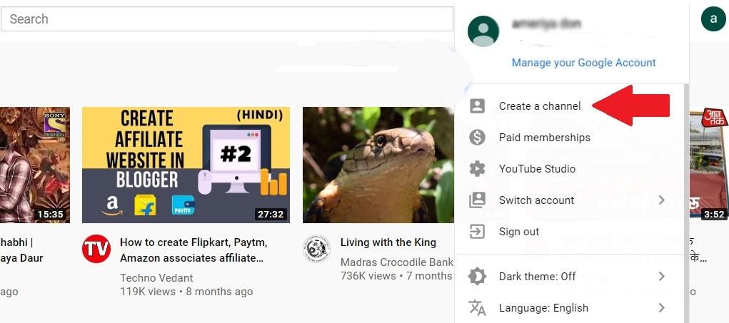 create youtube channel to start earn