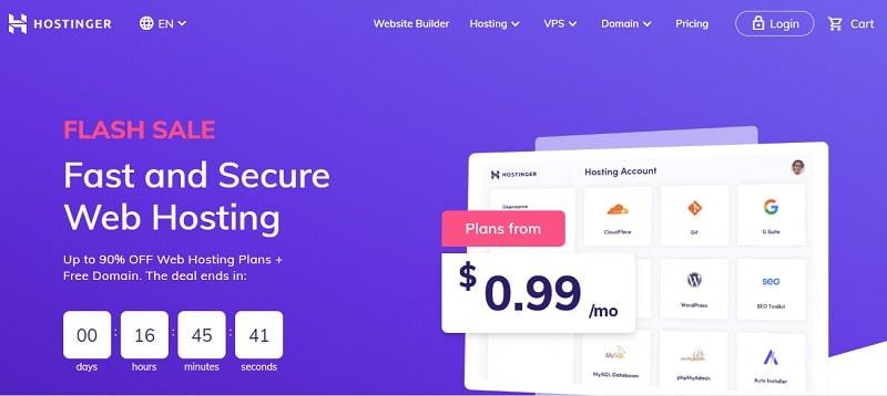best web hosting for wordpress-hostinger