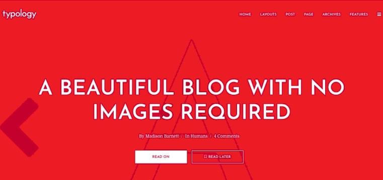 typology optimized wordpress theme
