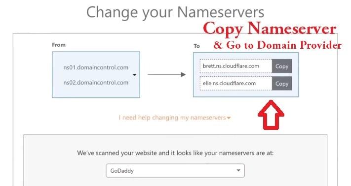 nameserver in server cloudflare