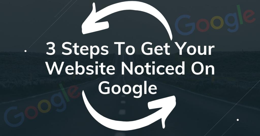 Displaying website on google