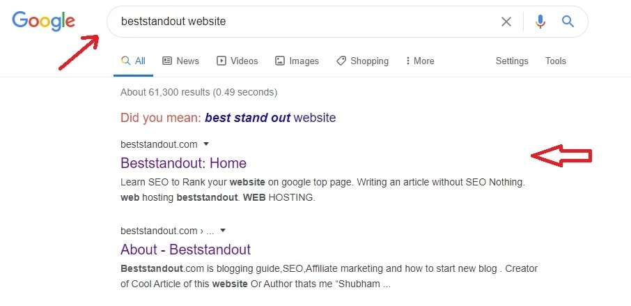 display website on google