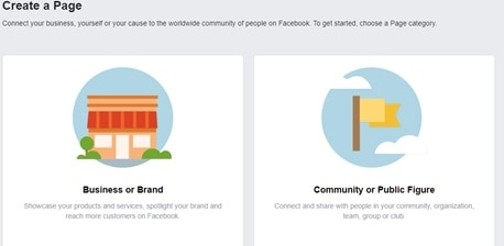 how to create a facebook page for website-facebook category