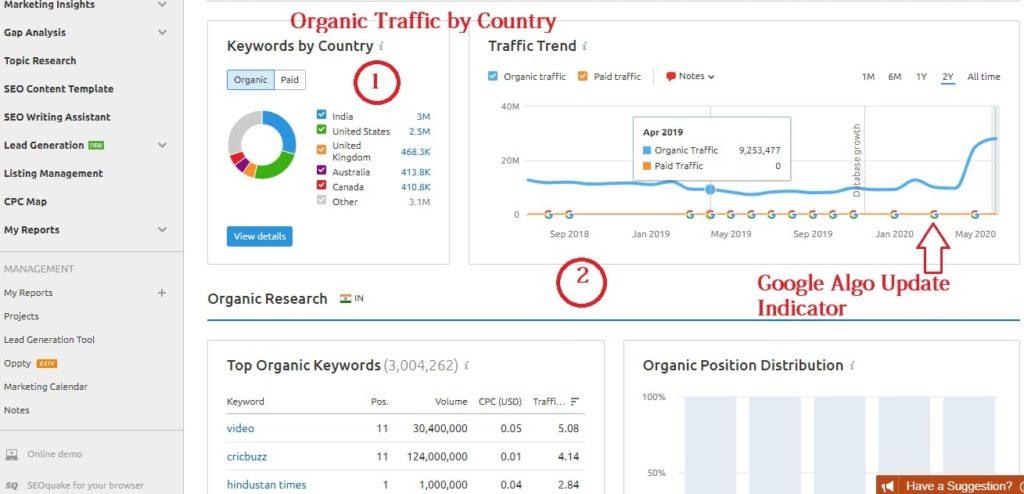 Competitor Organic Traffic