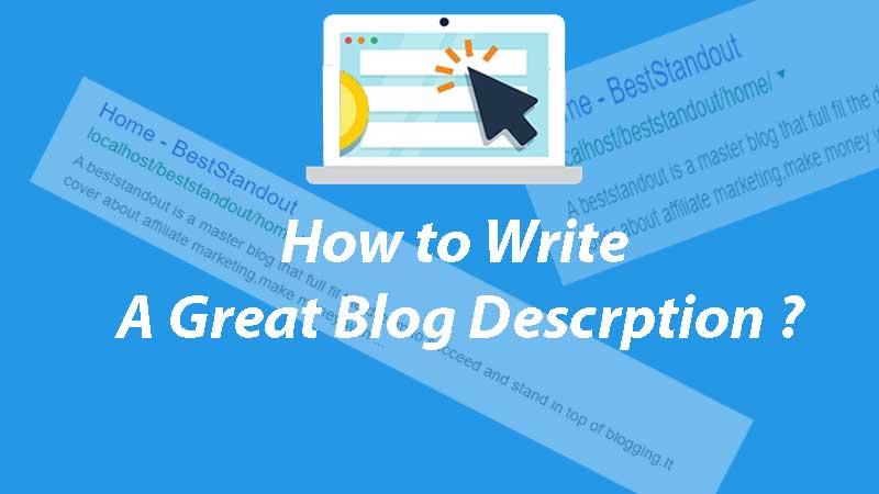 how to write a great blog description
