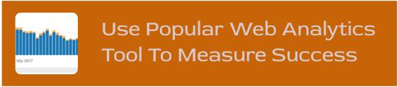Measure success using Web Analytics