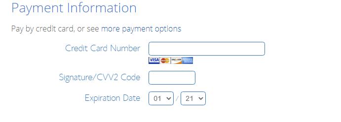 pay via card debit credit