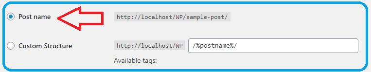 set permalink in wordpress
