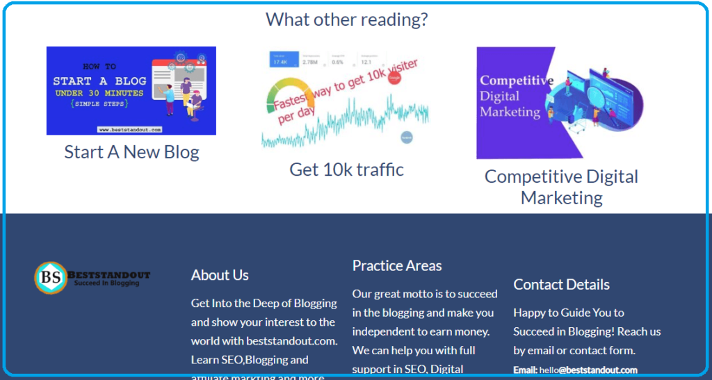traffic using footer post