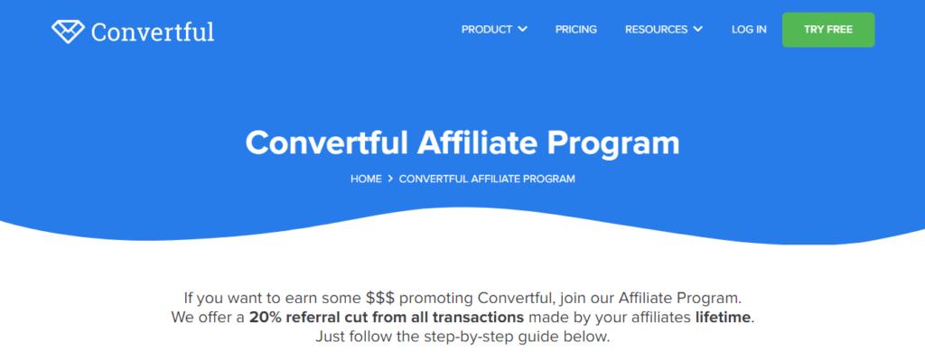 convertful  affiliate program