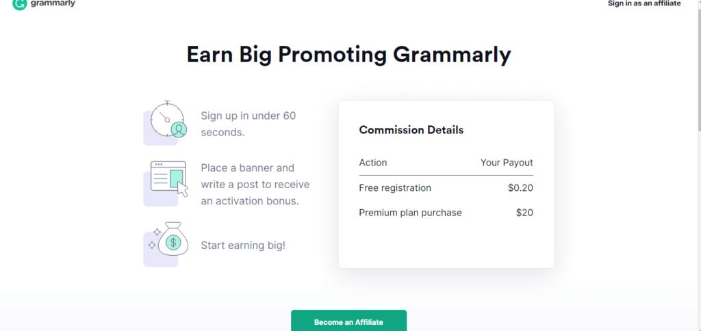 grammerly  affiliate program