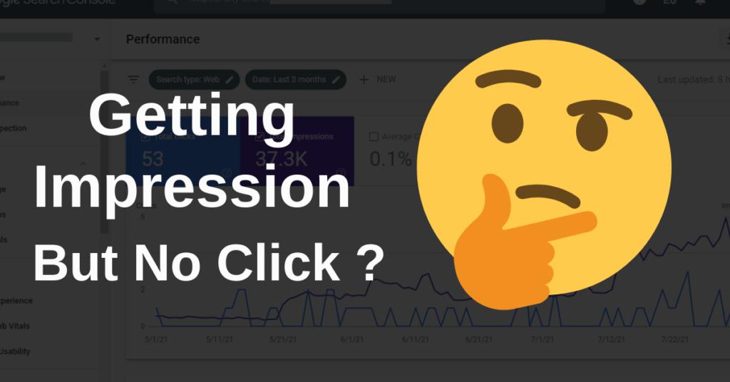 Getting Impression But No Click
