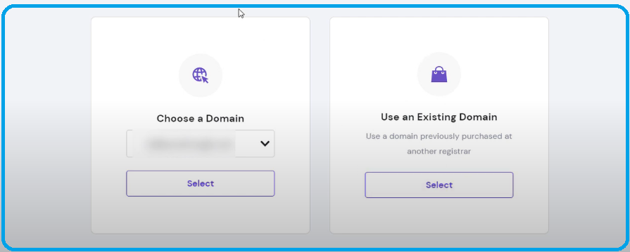 using existing domain