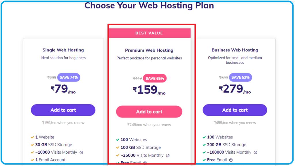 hostinger premium plan