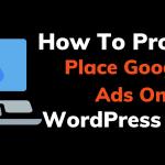 Adding google adsense on wordpress site